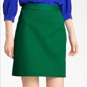 Kate Spade Green A-line Skirt Size 0